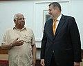 The Minister of Foreign Affairs of Slovak, Mr. Jan Kubis meeting with the Speaker, Lok Sabha, Shri Somnath Chatterjee, in New Delhi on April 30, 2008.jpg
