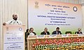 The Minister of State for Home Affairs, Shri Hansraj Gangaram Ahir addressing at the 12th Formation Day of the National Disaster Management Authority (NDMA), in New Delhi on September 28, 2016.jpg