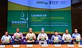 The Minister of State for Housing and Urban Affairs (IC), Shri Hardeep Singh Puri launching the Protocol for Swachh Survekshan 2019, ODF+ & ODF++ toolkit, at a press conference, in New Delhi (1).JPG
