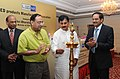 The Minister of State for Power, Shri Bharatsinh Solanki lighting the lamp to inaugurate the LED Products Manufacturers Association (LEDMA), in New Delhi on September 22, 2010.jpg
