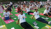 The Naval Contingent at the 2015 International Yoga Day celebration at Rajpath led by the Prime Minister.jpg