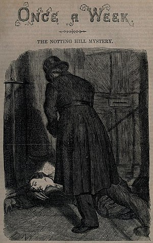 The Notting Hill Mystery - Cover art for Section V of The Notting Hill Mystery, Once A Week, 27 December 1862