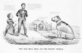 The Old Bull Dog on the Right Track Cartoon Lincoln Grant Confederates Richmond.png