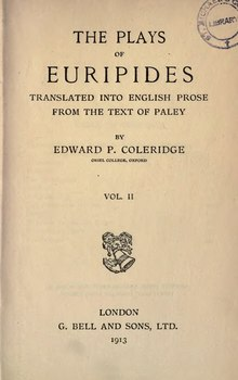 The Plays of Euripides Vol. 2- Edward P. Coleridge (1913).djvu