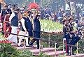 The President, Shri Ram Nath Kovind, the Vice President, Shri M. Venkaiah Naidu and the Prime Minister, Shri Narendra Modi returning after witnessing the 69th Republic Day Parade 2018, at Rajpath, in New Delhi.jpg