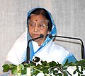 The President, Smt. Pratibha Devisingh Patil addressing at the 33rd Jamnalal Foundation Award Function, in Mumbai on October 28, 2010.jpg