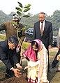 The President, Smt. Pratibha Devisingh Patil planting a 'Jamun' sapling in the Nakshatra Garden in the Rashtrapati Bhavan, New Delhi on December 19, 2007.jpg
