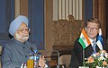 The Prime Minister, Dr. Manmohan Singh and Prime Minister of Finland, Mr. Matti Vanhanen addressing a joint press conference, in Helsinki, Finland on October 12, 2006.jpg