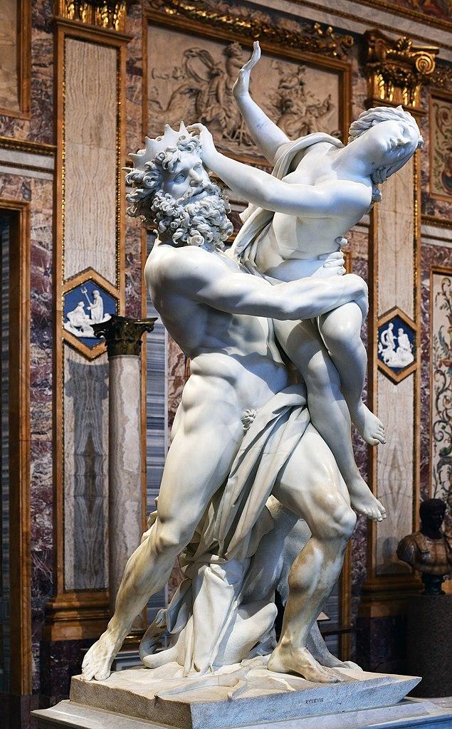 Le viol de Proserpine dans la galerie Borghèse à Rome - Photo d'Architas