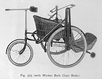 Invalid carriage - Image: The Rotary invalid tricycle. Wellcome L0010210