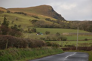 Scawt Hill - Scawt Hill from the Sallagh Road, Cairncastle