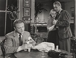 The Time of Your Life (film) - James Cagney, Jeanne Cagney and Wayne Morris in The Time of Your Life.