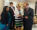 The Union Minister for Health and Family Welfare, Shri Ghulam Nabi Azad with the Minister for Children and the Elderly, Ministry of Health and Social Affairs, Sweden, Ms Maria Larsson, at Stockholm, Sweden on May 22, 2013.jpg
