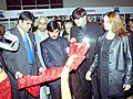 The Union Minister for Textiles Shri Syed Shahnawaz Hussain going around the India International Garment Fair, showcasing the Autumn Winter collections, after its inauguration in New Delhi on January 28, 2004.jpg