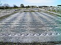 The big antechamber paved with white and black pebbles forming lozenges from the House of Dionysos, built in 325-300 BC, Ancient Pella (7060204635).jpg