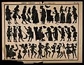 The characters (in silhouette) from Molière's play 'La malad Wellcome V0016107.jpg