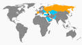 The countries who supported Azerbaijan or Armenia diplomatically in the Nagorno-Karabakh Conflict.png