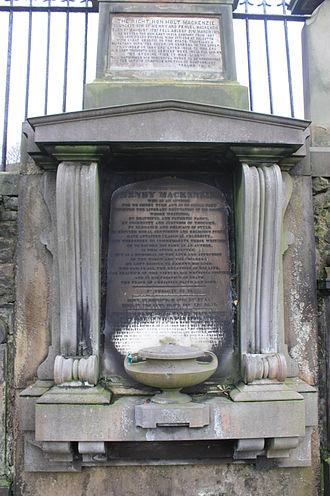 Henry Mackenzie - The grave of Henry MacKenzie, Greyfriars Kirkyard