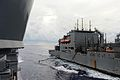 The guided missile cruiser USS Antietam (CG 54), left, conducts a replenishment at sea with the dry cargo and ammunition ship USNS Charles Drew (T-AKE 10) in the Philippine Sea Aug. 15, 2013 130815-N-TG831-181.jpg