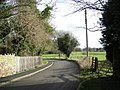 The lane by the church at Wroxeter - geograph.org.uk - 711752.jpg