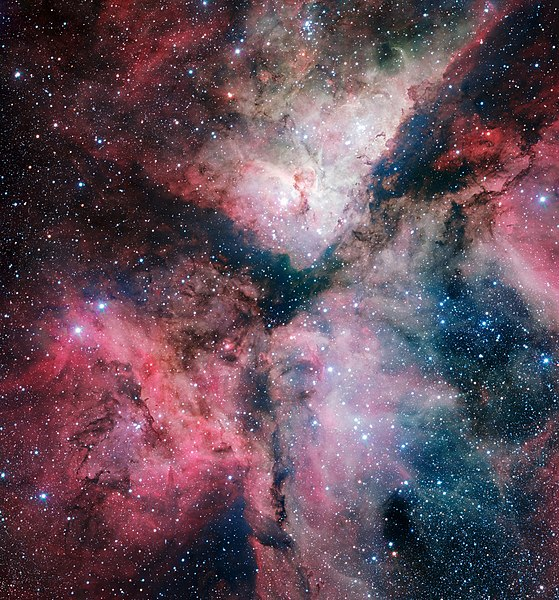 File:The spectacular star-forming Carina Nebula imaged by the VLT Survey Telescope.jpg