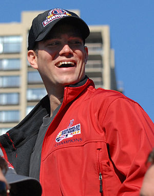 Theo Epstein - Epstein at the 2007 World Series victory parade