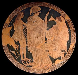 Bacchylides - Image: Theseus Athena Amphitrite Louvre G104