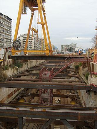 Thessaloniki Metro - Image: Thessaloniki Metro Construction 01