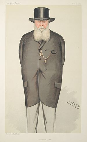 Thomas Charles Bruce - Caricature by Spy published in Vanity Fair in 1882.