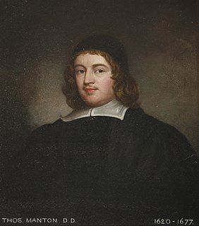 Thomas Manton English minister