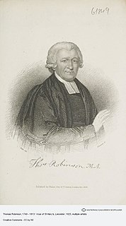 Thomas Robinson (1749–1813) Church of England clergyman, died 1813