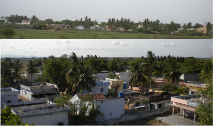 An East and West view of the Village. Thurakapalem village overview.png