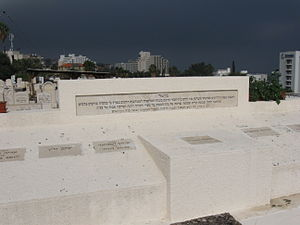 1938 Tiberias massacre - Memorial and graves of victims in Tiberias' old cemetery