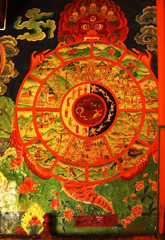 "Four Noble Truths - Tibetan Bhavacakra or ""Wheel of Life."""