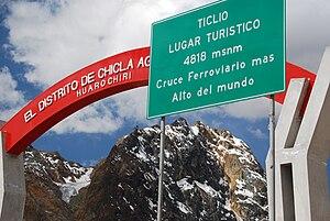 Ticlio - Image: Ticlio railway pass