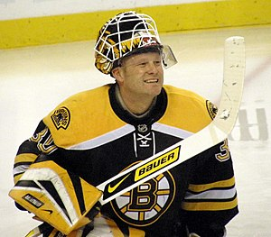 Goalie Tim Thomas, NHL Hockey player for the B...