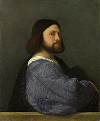 Titian: A Man with a Quilted Sleeve