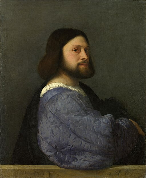 Titian - Portrait of a man with a quilted sleeve