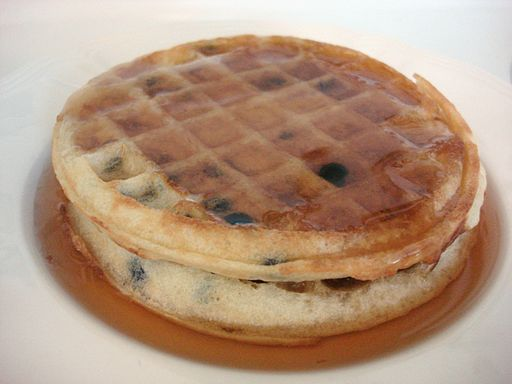 Toaster waffles with maple syrup