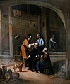 Tobias restoring the eyesight of Tobit. Oil painting by a Wellcome L0016528.jpg