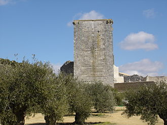 Estepa - Torre del homenaje of the Alcázar of Estepa, on the hill of San Cristóbal.
