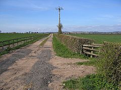 Track and footpath to Iddenshall Grange - geograph.org.uk - 391392.jpg