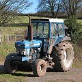 Tractor by a hillside in Welsh Newton - geograph.org.uk - 714826 (cropped).jpg