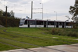 Tram 266 at Gogarburn (geograph 4200634).jpg