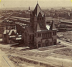 Trinity Church Boston during construction ca1875.jpg