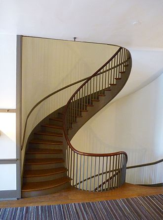 Micajah Burnett - One of two spiral staircases designed by Burnett in the Trustees' House.