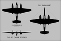 Tupolev Tu-1 and Tu-2 special variants silhouettes.png