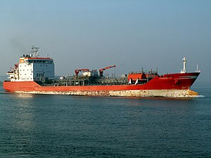 Turchese approaching Port of Rotterdam, Holland 04-May-2006.jpg