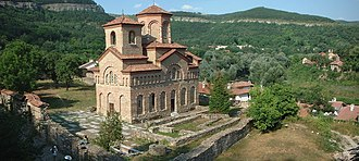 """Peter II of Bulgaria - Church of St Demetrius of Thessaloniki in Tarnovo, allegedly erected on the place where the """"house of prayer"""" built by Theodor-Peter and Asen had stood"""
