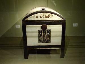 Tutankhamun's wooden chest from this pharaoh's...